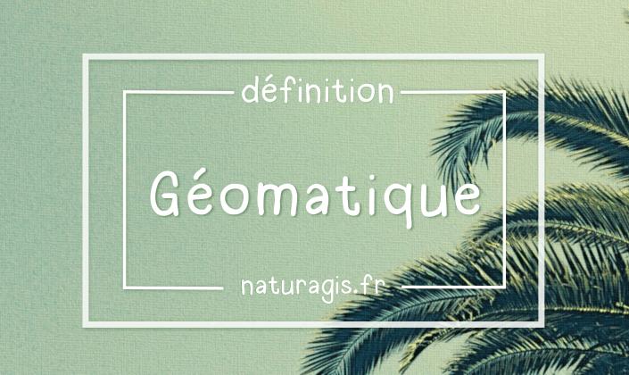 définition géomatique