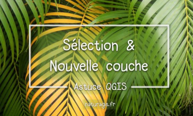 [Astuce QGIS] créer une nouvelle couche vecteur à partir d'une sélection