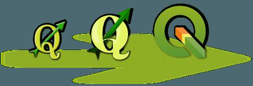 Les logos de QGIS le logiciel SIG libre et gratuit