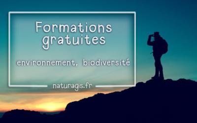 Ressources en ligne gratuites pour se former à distance : environnement, écologie, nature, biodiversité