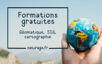 Ressources en ligne gratuites pour se former à distance : SIG, géomatique, cartographie, données.