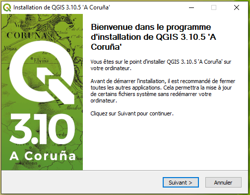 Comment installer QGIS 3 sur Windows 10